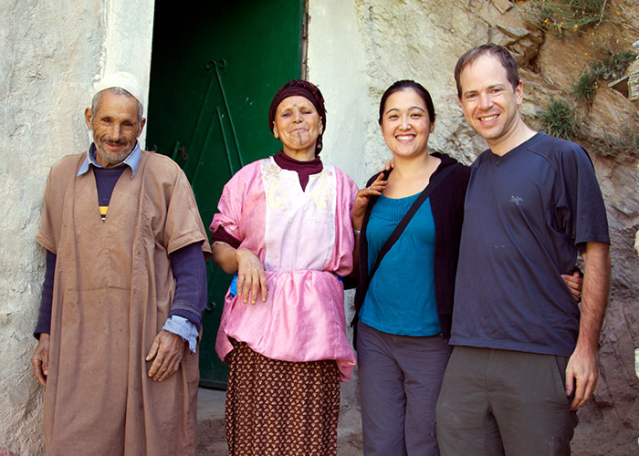 Women in front of Berber village