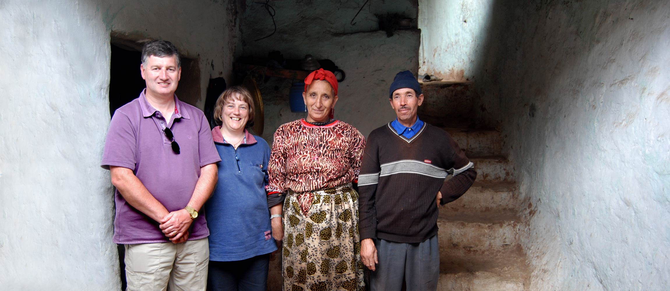 Tourists with Berber family