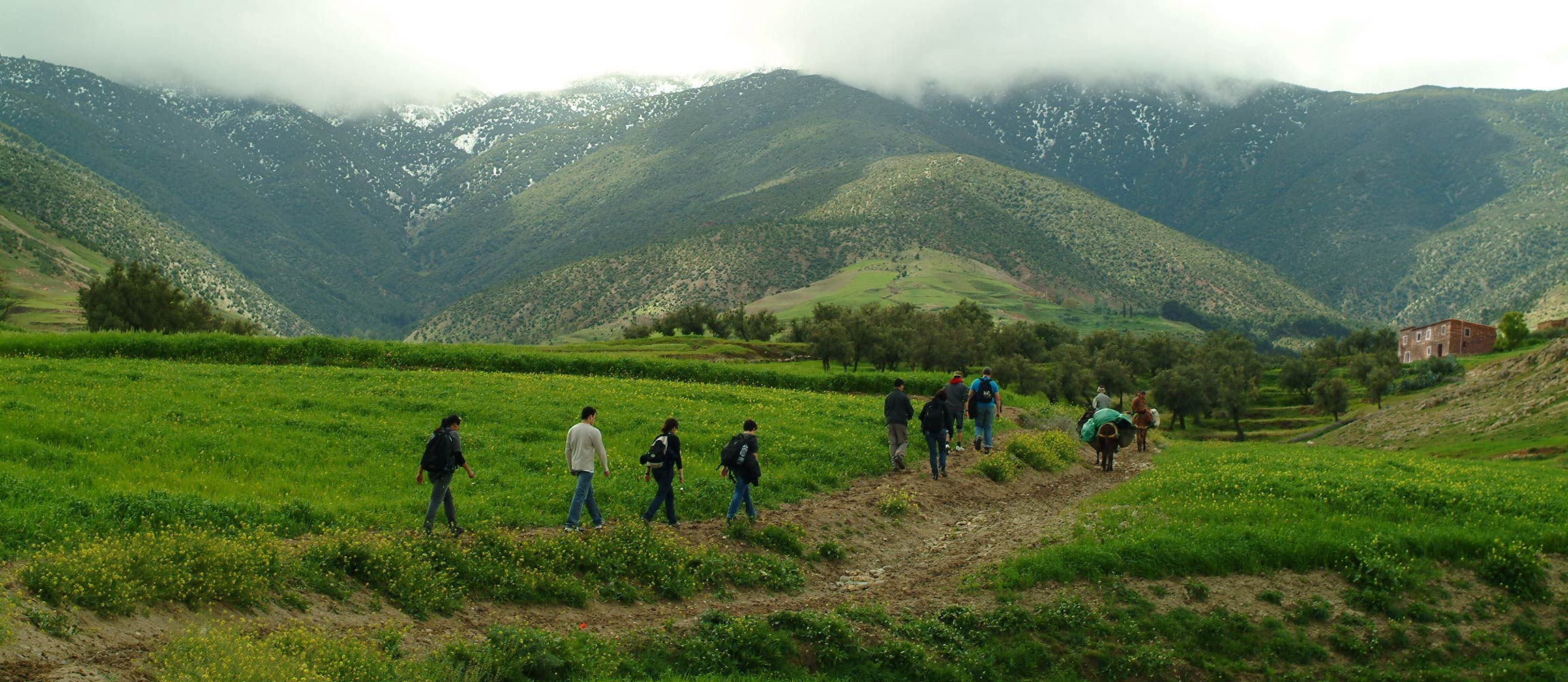 Hiking in the High Atlas Mountains near Marrakech, Morocco