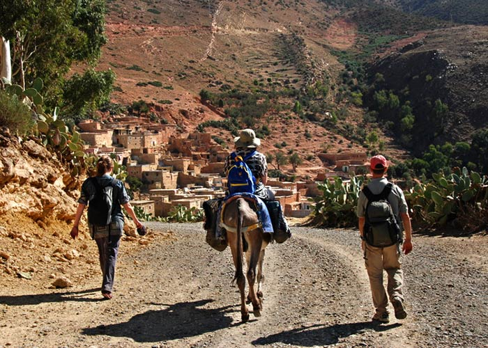 Walking to Berber village